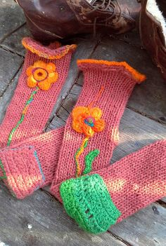 Lithuanian wool knee length knit socks with by BAGSBAGSBAGSBAGS