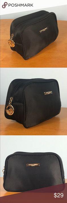 5e80509854a Giorgio Armani 🎀 Black Parfums Cosmetic Case Bag Giorgio Armani 🎀 Small  Black Parfums Cosmetic Case