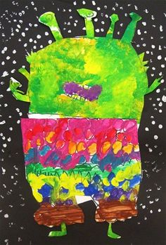 """I read, """"Aliens Love Underpants"""" and then the Kinders made ADORABLE aliens wearing unders!  Wonderful job Rayna!"""