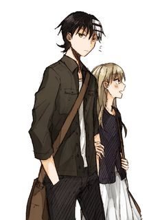 kid x maka I don't ship them, But this is cute