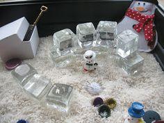 Christmas Sensory Tub - Rice