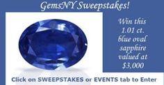 GemsNY - Win a 1.01 ct. Blue Oval Sapphire worth $3,000 - http://sweepstakesden.com/gemsny-win-a-1-01-ct-blue-oval-sapphire-worth-3000/