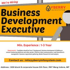 Openings For Business Development Executive Bde Min