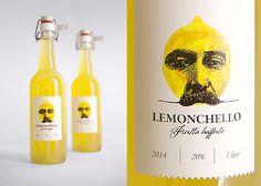 Дизайн упаковки и этикетки итальянского лимонного ликёра Lemonchello | РА «Гордость»