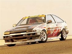 Toyota Corolla GTS AE86 drift car, driven by Katsuhiro Ueo