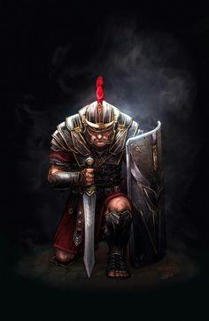 Ryse: Son of Rome Comic Cover by KlausScherwinski on DeviantArt Rome History, Ancient History, Art History, Medieval Combat, Medieval Art, Ryse Son Of Rome, Roman Gladiators, Roman Armor, Roman Warriors