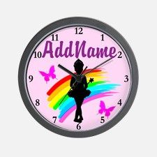 DANCING STAR Wall Clock Calling all Dancers! The best selection of personalized Dancing and Ballet Tees and Gifts. Shop and Save. Take 20% Off Your Order Use Code: BEADS20  http://www.cafepress.com/sportsstar/10423569 #Dancer #Dancergifts #Ballet #Ballerina  #Personalizeddancer