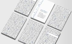 Proofreader or English teacher business card
