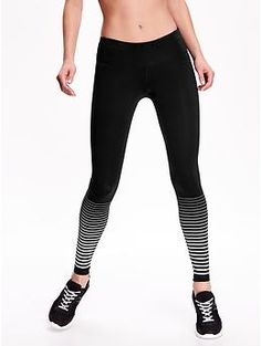 Striped Compression Leggings | Old Navy Size Small