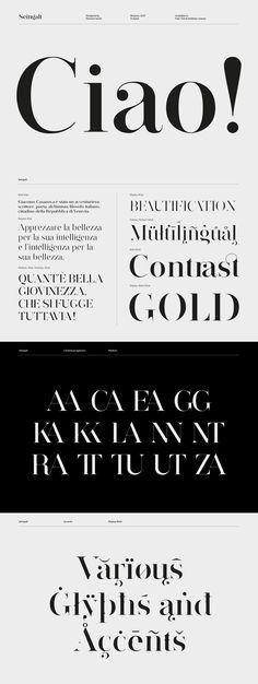Seingalt Free Font - elgant serif font suitable for headlines Logo Fonts Free, Best Serif Fonts, Modern Serif Fonts, Free Typeface, Free Modern Fonts, Best Free Fonts, Serif Typeface, Free Fonts Sans Serif, Type Fonts