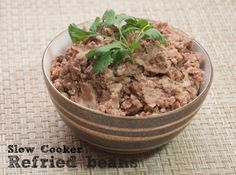 Slow Cooker Refried Beans - My Real Food Family
