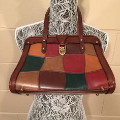 Vintage Burlington Purse Patchwork Frame Top Handle Boho  Hippie 1960's - https://www.etsy.com/listing/264514728/vintage-burlington-purse-patchwork-frame?utm_source=socialpilotco&utm_medium=api&utm_campaign=api #bagsandpurses