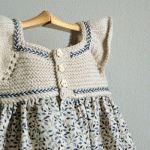 Neu Stricken ustu-sleeved knitting fan-to-ecru-color-girl-boy-dress-model, Crochet Yoke, Crochet Fabric, Crochet Girls, Crochet For Kids, Crochet Dresses, Knitting For Kids, Baby Knitting, Newborn Outfits, Kids Outfits