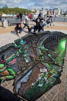 3D Ninja,Street Art | Most Beautiful Pages