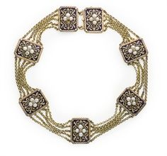 Christies Jewelry | COLLIER DIAMANTS, PERLES ET EMAIL, PAR JULES WIESE