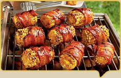 Bacon Wrapped Corn on the Cob!!!!! Everything good when it's wrapped in bacon right??!!