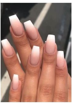 Sns Nails, Cute Nails, Coffin Ombre Nails, Pretty Nails, Stiletto Nails, Glitter Ombre Nails, Gel Manicures, Oval Nails, Best Acrylic Nails