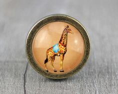 Giraffe Vintage Antique Bronze Dresser Knobs Cabinet by jade4wood, $6.20