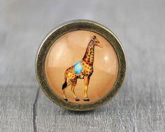 Giraffe  Vintage Antique Bronze Dresser Knobs Cabinet door jade4wood