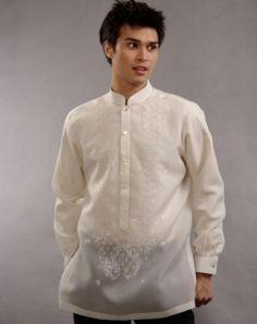my babe's dream barong Barong Tagalog Wedding, Barong Wedding, Tropical Fashion, Groom Attire, Traditional Dresses, Formal Wear, Chef Jackets, Menswear, Wedding Dresses