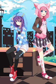 Mizuki and Airi by *hitsukuya on deviantART