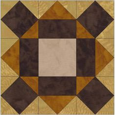 Chocolate Cake Star 15 Inch Block Paper Template Quilting Block Pattern PDF by HumburgCreations on Etsy
