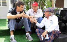 Piquet, Stewart e Lauda (9 títulos mundiais)
