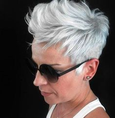 Especially for women who love short gray hairstyles: 10 TOP hairstyles! - Page 6 of 10 - Ladies Hairstyles - Short HairEspecially for women who love short gray hairstyles: 10 TOP hairstyles! - Page 6 of 10 - Ladies Hairstyles - - Funky Hairstyles, New Haircuts, Ladies Hairstyles, Short Gray Hairstyles, Short Sassy Hair, Short Grey Hair, Growing Out Short Hair Styles, Curly Hair Styles, Thin Hair Cuts