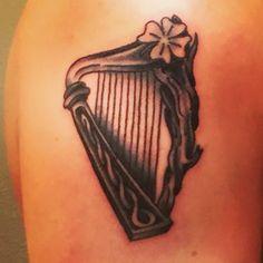 Irish Harp Tattoo #firsttattoo