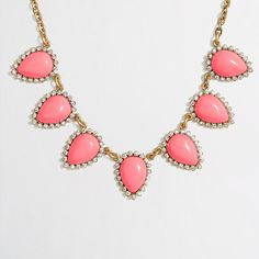 J.Crew Factory - Factory crystal borders necklace $27.50