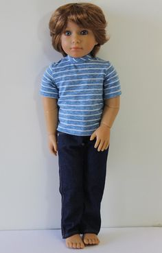 Striped T Shirt  Doll Clothes to fit Kidz 'n' Cats by Debsterkay