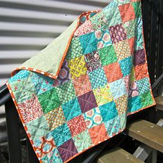 Pinner said - Quilty, baby/lap quilt, handmade by me from Moda Birds and berries by Lauren and Jessie Jung @$75.99