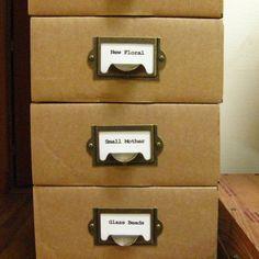 Antique Brass Label Holders   Set Of 5   Drawer Pull Handle, Card Holders  Metal Label Frames (LH0001)