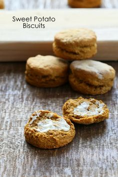 Spelt Sweet Potato Biscuits - now I can use all those sweet potatoes ...