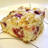 Raspberry Marzipan Coffee Cake