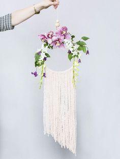 DIY le capteur de rêves le plus végétal fleurs Lajoiedesfleurs.fr