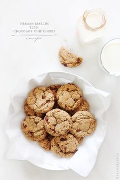 Neiman Marcus Chocolate Chip Cookie Recipe - May be my favorite cookie of all time. (I make with pecans instead of almonds, though.) Cookie dough also freezes very well.