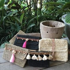 Beautiful summer must have clutch bag .