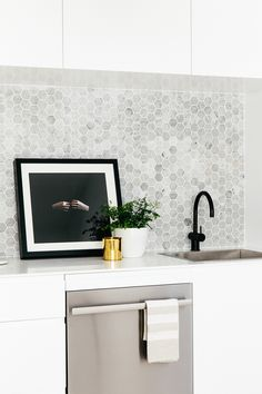 Hex tile in the kitchen