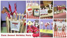 For my little guy's 2nd birthday, we did a cute farm animal birthday party. It all turned out so cute! Here I'll share pictures along with party ideas.