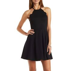 Scalloped Bib Neck Skater Dress. Find this Pin and more on Charlotte Russe  Dresses and accesories I like ... 0dda5097d