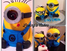 Minions These cakes were a blast to create! I have been asked to do a tutorial on them by several people. May do that in the near future