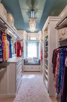 Small walk in closet ideas and organizer design to inspire you. diy walk in closet ideas, walk in closet dimensions, closet organization ideas. Dream Closets, Dream Rooms, Open Closets, Big Closets, Classy Closets, Dream Bedroom, Dream Wardrobes, Bedroom Size, Style At Home