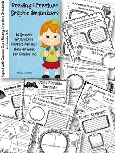 80 Best Selling Graphic Organizers Aligned with Common Core Standards for grades 3-5.  $