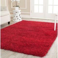 Safavieh California Cozy Solid Red Rug X