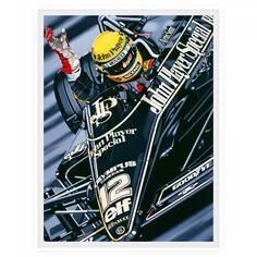 F1 Print 'First Victory' - Ayrton Senna 1985 Portuguese GP