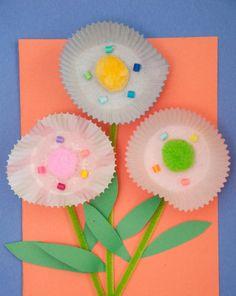 Activities: Cupcake Liner Flowers