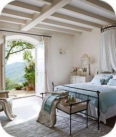 lovely bedroom with a view