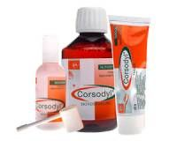 Corsodyl mondspoeling 2mg/g 200ml  Wat is Corsodyl? De producten van Corsodyl ontsmetten de mondholte. De werkzame stof chloorhexidine vernietigt bacteriën die zich in de mond en op het gebit bevinden. Corsodyl bestrijdt en voorkomt ontstekingen en bevordert de wondgenezing.  EUR 5.70  Meer informatie  #drogist