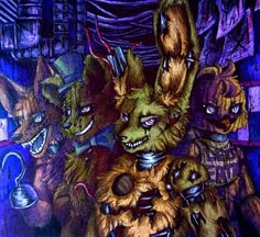 Hallucinations / Springtrap FNaF 3 by Mizuki-T-A.deviantart.com on @DeviantArt